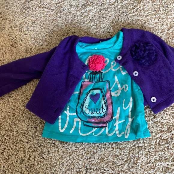 The Children's Place baby girl jacket set 6-9 mos